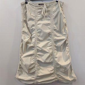 XCVI Small Double Shirred Panel Skirt Light cream